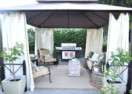 Outdoor Gazebo With Curtains Backyard Metal Gazebo With White Curtains Useful Outdoor Gazebo