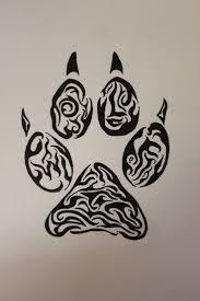 paw print tattoos print tattoos and tribal tiger on