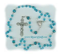 birthstone rosary march glass rosary aquamarine