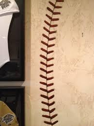 custom wall murals denver g go decorative g go decorative baseball stitching mural1