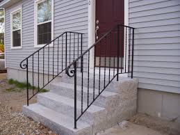 Exterior Stair Handrail Kits Exterior Wrought Iron Stair Railing Kits Depthfirstsolutions