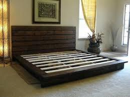 Platform King Bed Frames Pallet King Bed Frame Glassnyc Co