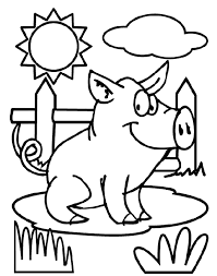 Pig Coloring Page Crayola Com Pig Coloring Pages