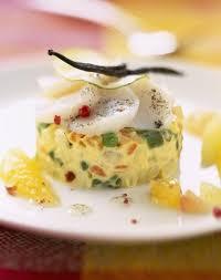 photo de recette de cuisine timbale de légumes et jacques aux agrumes et vanille cuisine