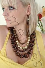 earrings with statement necklace images Cool huge wooden statement necklace hoop earring set cool huge jpg