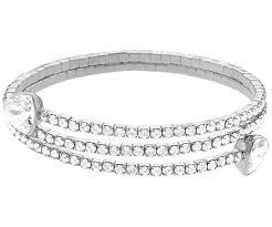 bangle bracelet swarovski images Twisty triangle bangle white rhodium plating jewelry jpg