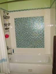 Glass Tile Border Shower U0026 Bath Tile