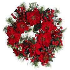 24 poinsettia wreath walmart
