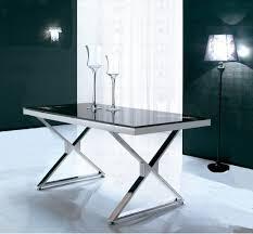 tavoli design cristallo tavolo design doublex struttura acciaio piano vetro scuro sconto