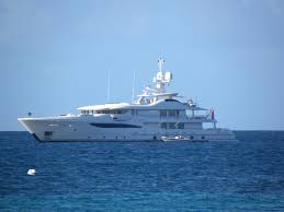 luxury superyachts spotted near the popular caribbean yacht