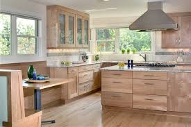 Kitchen Cabinets Contemporary Style Oak Floors Kitchen Contemporary With Shaker Style Cabinet With