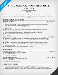 food service resume 19 sample worker cv cover letter samples