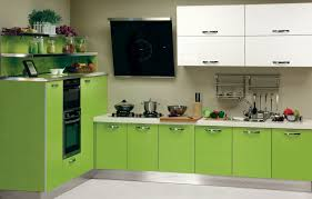 Kitchen Furniture List Fresh Kitchen Furniture With Green Colors And Line Kitchen