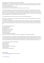 Resume Maker Professional Deluxe 17 Free Professional Resume Maker Resume Example And Free Resume Maker