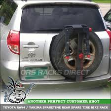 toyota rav4 spare tire locking 2 bike yakima sparetime spare tire rack for toyota rav 4