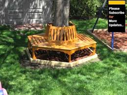 tree benches tree bench design ideas bench around trees youtube