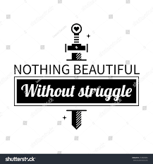 maserati logo vector typographic poster aphorism nothing beautiful without stock vector