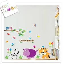 popular animal zebra wall sticker buy cheap animal zebra wall cute tiger zebra animals wall stickers for baby room decoration diy nursery adesivo de paredes home