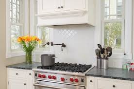 decorating beautiful white daltile backsplash with cool dark pot