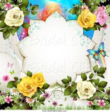 Roses And Butterflies - royalty free stock bridal designs of butterflies