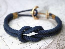 rope bracelet with anchor images Jewels bracelets braclet rope blue navy gold anchor jpg