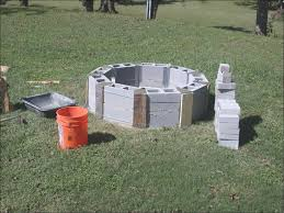 outdoor awesome building a stone fire pit cinder block fire pit