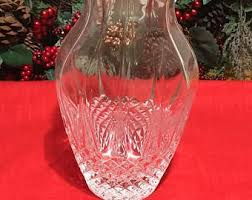 Vintage Waterford Crystal Signed 8 Inch Flower Vase In Cut Crystal Vase Etsy