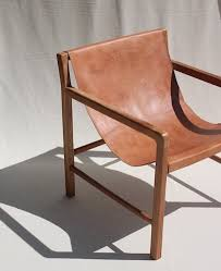 leather sling chair furnishings pinterest leather