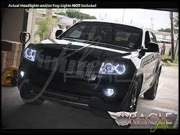 jeep cherokee white 11 13 jeep grand cherokee ccfl halo rings headlights bulbs