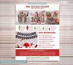 year in review christmas card year in review newsletter christmas card idea family newsletter