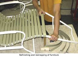 Restrapping Patio Chairs Patio Furniture Furniture Refinish Restrap Island