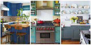 beautiful kitchen decorating ideas 10 beautiful blue kitchen decorating ideas best blue paints for