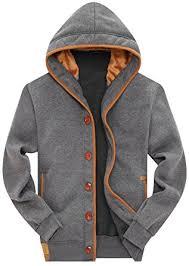 mens sweater hoodie wantdo s fleece button hoodie sweatshirts jacket at amazon