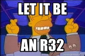 Fingers Crossed Meme - let it be an r32 homer crossed fingers meme generator