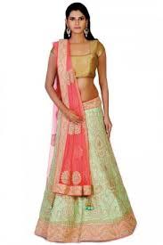 lehenga blouse pista green u0026 neon pink color bridal wear aishwarya