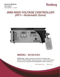 ransburg 9060 power series