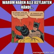 Batman Robin Meme Generator - warum haben alle asylanten händi batman slapping robin meme
