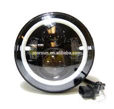jeep headlights halo 7 inch round round halo headlights led led sealed beam high low