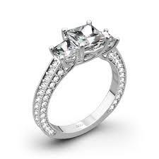 Princess Cut Diamond Wedding Rings by 3 Stone Coeur De Clara Ashley Diamond Engagement Ring For Princess