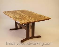 live edge slab dining table by tim carney timothy u0027s fine