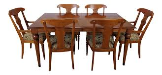 ethan allen country crossing dining set set of 7 chairish
