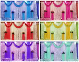 wedding backdrop ebay 10ft 20ft pleated wedding backdrop curtain background decor