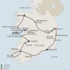 Dublin Ireland Map Tour Ireland With Dublin Tours The Cliffs Of Moher U0026 More