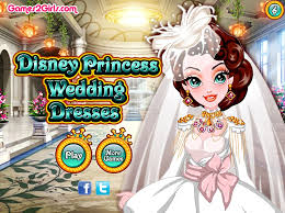disney princess wedding dresses fun online dress up fashion games