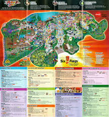 Six Flags America Map by Everything Thrills