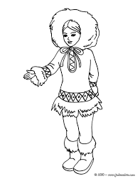 eskimo coloring pages to print