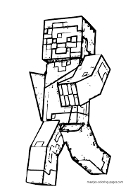 minecraft zombie pigman coloring pages kids coloring