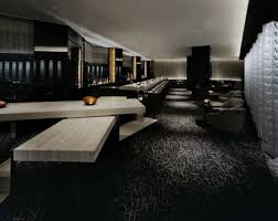 amazing home bar interior idea with dark nuanced feat black