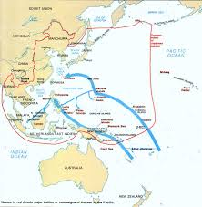 Map Of Okinawa Map Wwii Major Battles Or Campaigns Of The War In The Pacific