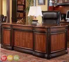 Ebay Home Office Furniture Wood 4 Executive Office Furniture Set Desk Credenza Hutch